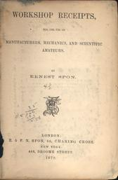 Title page: Workshop Receipts